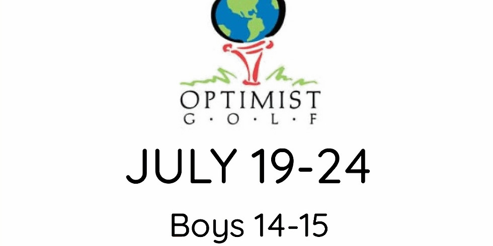 2021 OPTIMIST Jr. Golf Championship July 19-24 (Boys 14-15/Girls 13-14)