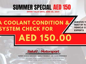 Summer Special Promotion: Coolant & AC System Check for AED 150.00