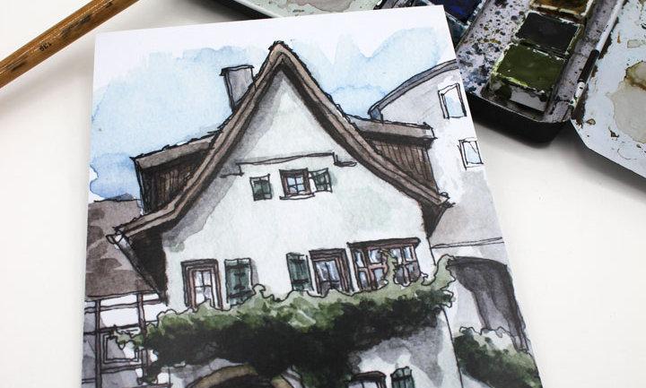 Postkarte – Haus Leonberg
