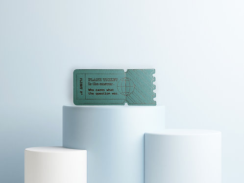 """""""Plane Ticket""""  –  Gutschein Grußkarte mit Perforation zum Abreißen"""