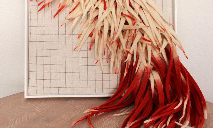 Textiles Bild – rot