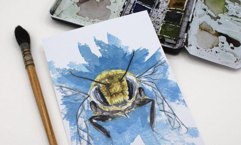 Postkarte – Bee Ready