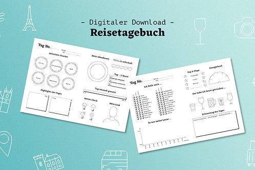 Reisetagebuch – Printable, Digitaler Download, zum selbest Drucken oder für dein