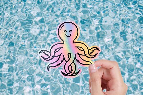 Holographic Sticker – Oktopus
