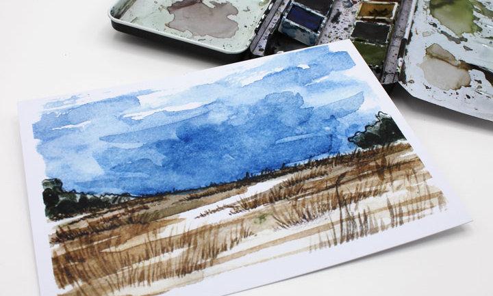 Postkarte – Felder Perouse
