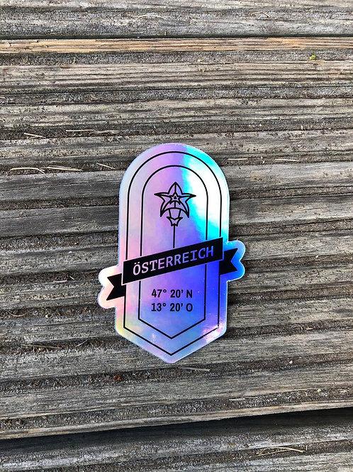 Holographic Sticker – Österreich