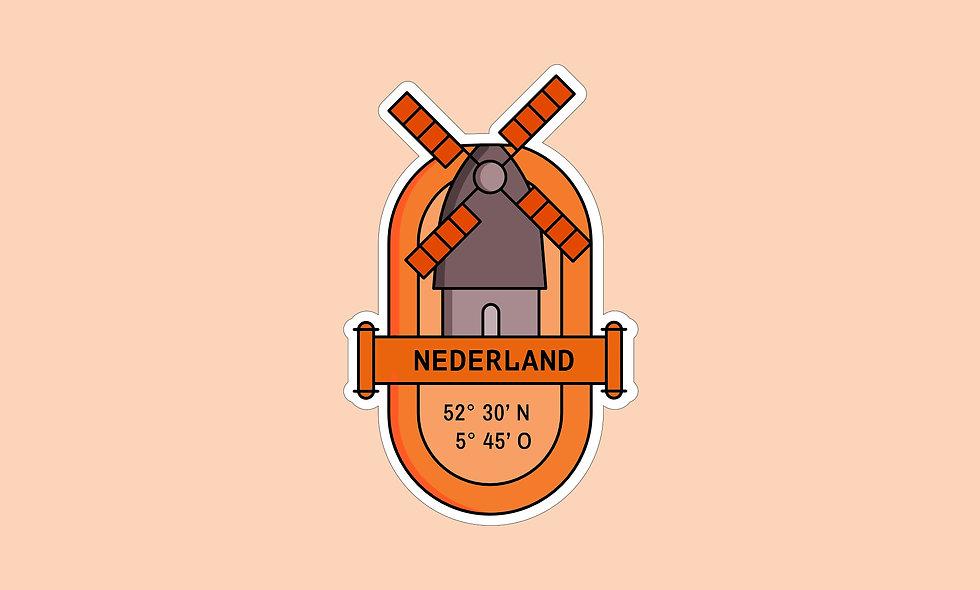 Sticker – Niederlande