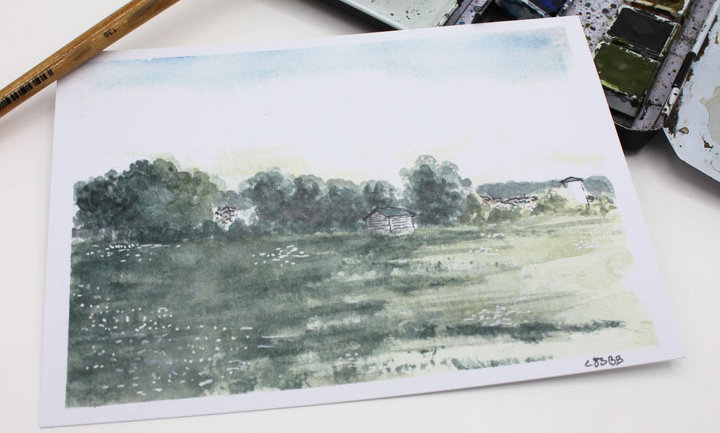 Postkarte – Ansicht Wasserturm