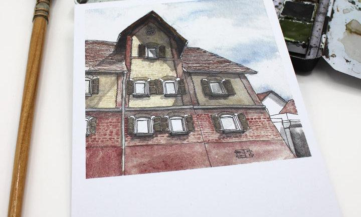Postkarte – Haus Eltingen