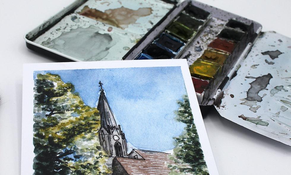 Postkarte – Johanniskirche Rutesheim