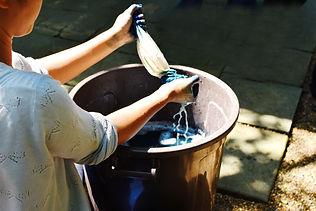 Process of making Indigo dyed cotton, wo