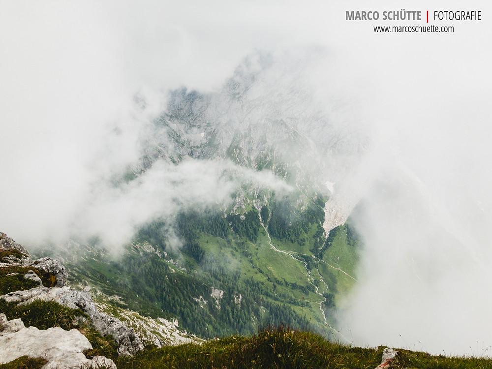 Der Blick vom Schneibstein in Richtung Hohes Brett