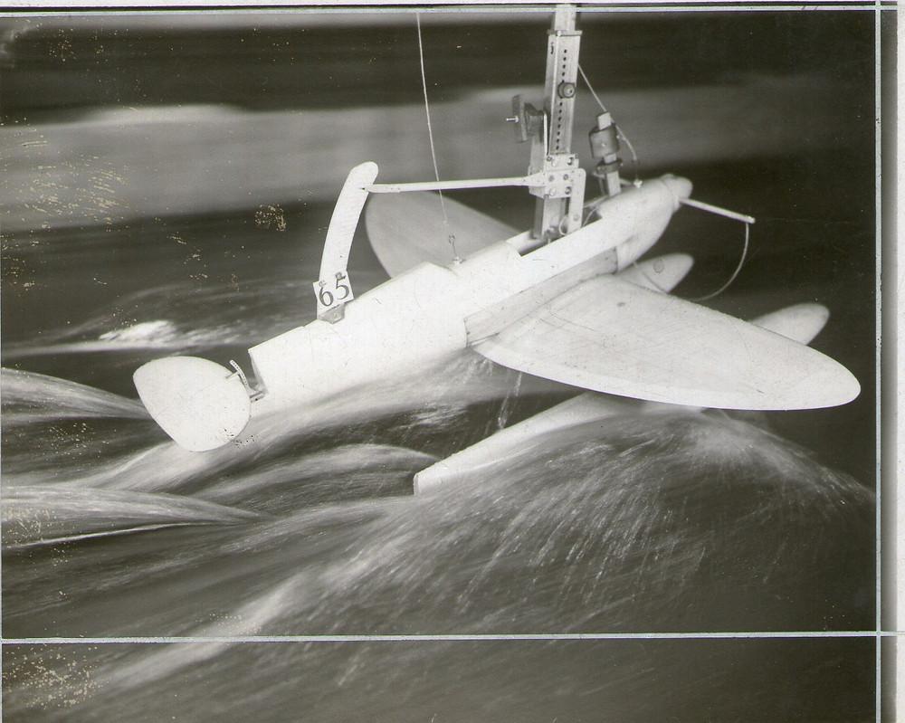 Spitfire floats under test