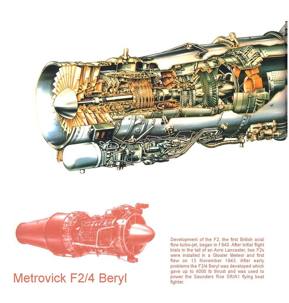 Metrovick Beryl Jet Engine