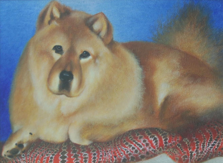 チャウチャウの肖像画