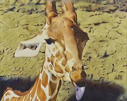 キリン giraffe アミメキリン 麒麟 ペット肖像画 動物絵画