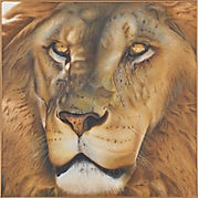 ライオン Lion 動物絵画 ペット肖像画