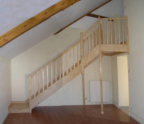 Escalier en rampants de toiture