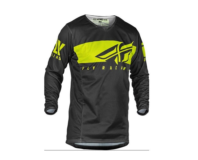 FLY RACING KINETIC MESH SHIELD JERSEY GREY/HI-VIS