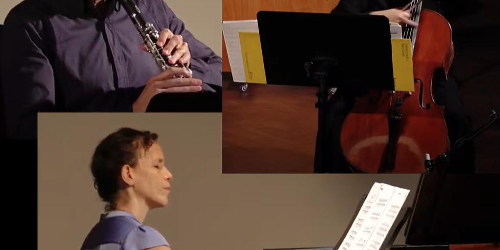 קונצרט 3 בסדרה הקאמרית של סולני אנסמבל המאה ה-21 לצפייה! אלה טובי צ'לו, עפרה יצחקי פסנתר, טיבי צייגר קלרינט