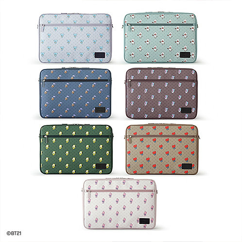 [PRE-ORDER] BT21 Easy Carry Laptop Pouch Vintage