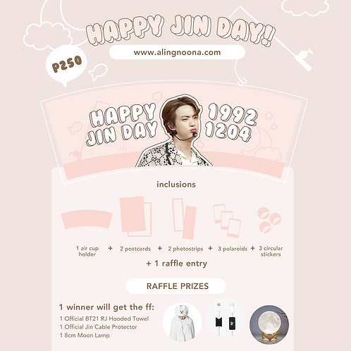 [BTS Cupholder] Happy Jin Day