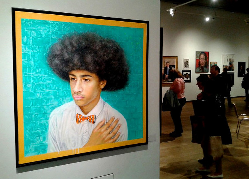 Raul G's Portrait of JM at Mall Galleries