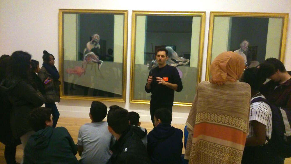 Students visit Tate Britain with Raul