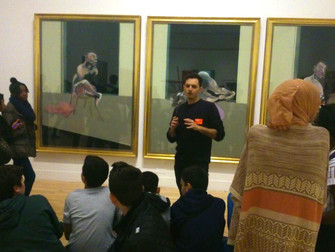 Secondary school students learn about British art with Raul G