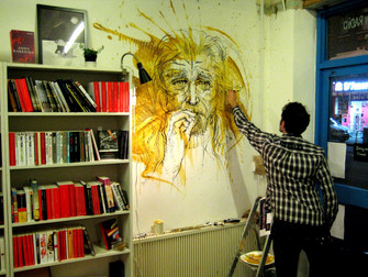 Artist meets author