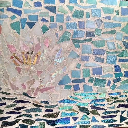 """""""Blooming Lotus"""" Glass Mosaic"""