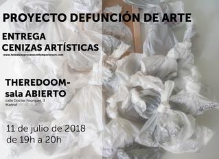 ENTREGA DE CENIZAS ARTÍSTICAS