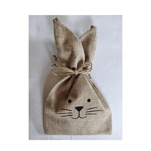 Kaninchen Geschenkstüte Jutestoff