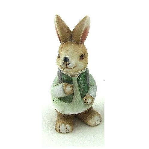 Coniglio di ceramica decorazione 11 cm