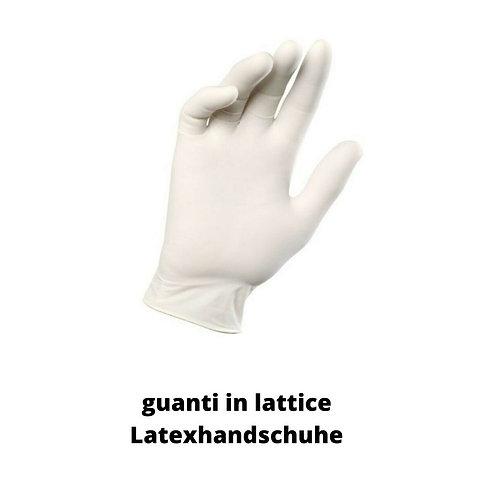 guanti in lattice senza polvere
