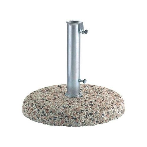 Base ombrellone rotonda 25kg con palo in acciaio