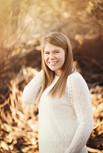 senior girl in the woods