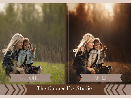 Before/After with The Copper Fox Studio| Omaha, NE Photographer