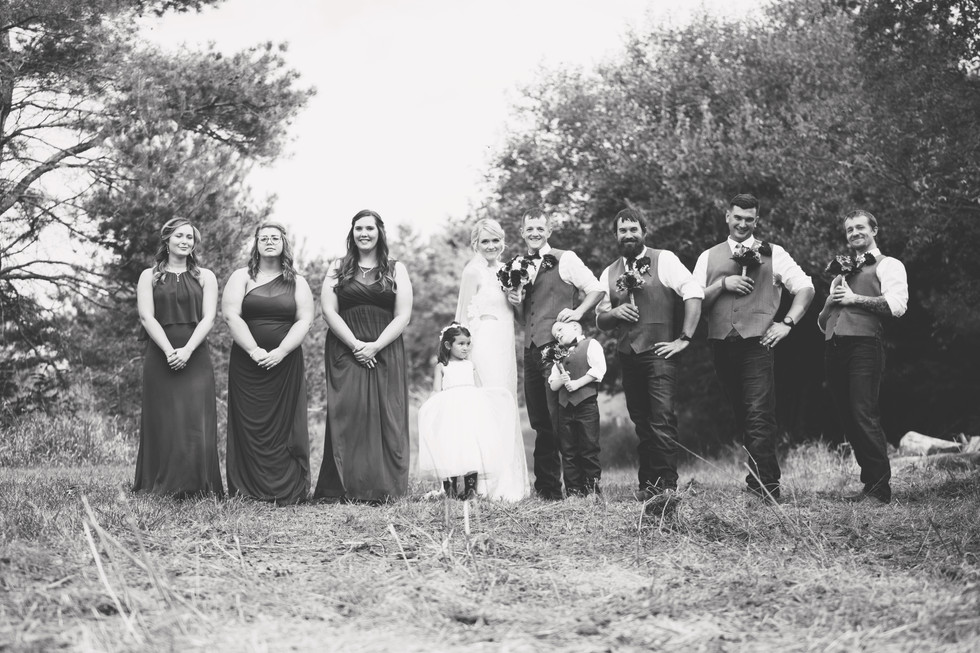 Bridal party reversed roles