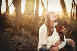 senior girl with basset hound.jpg