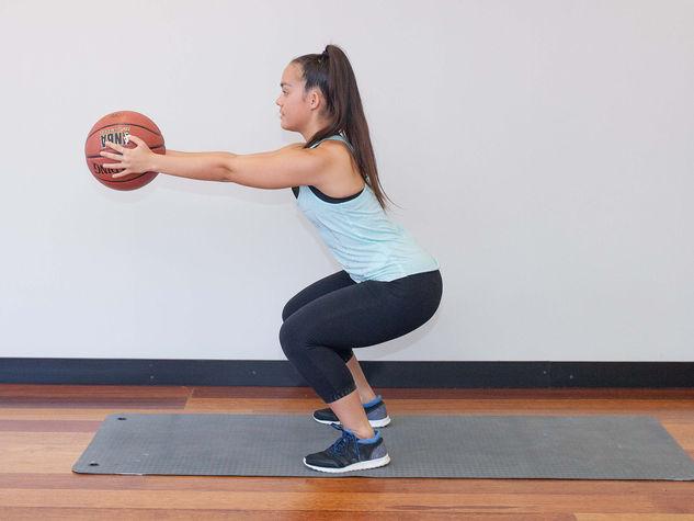 Ball Front Squat