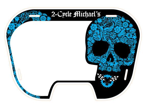 2CM Blue Skull