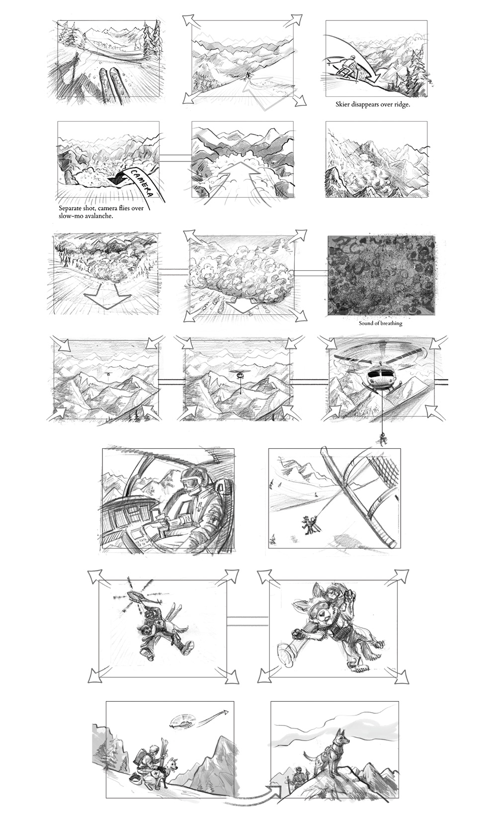 IMAX Film Storyboards