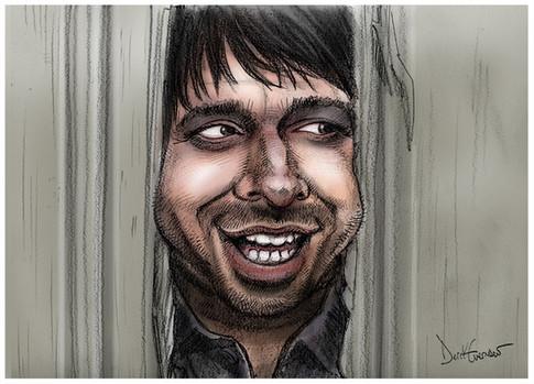 Caricature of Malcolm Tucker