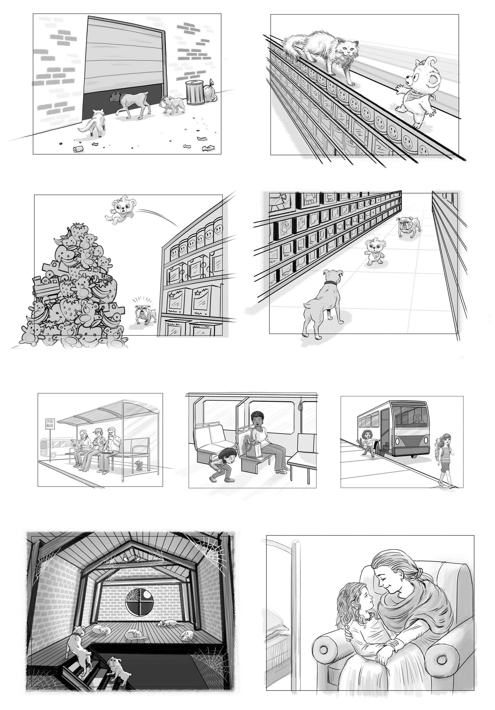 Cartoon Storyboards