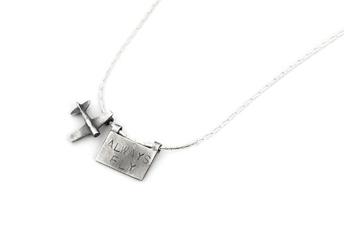 Women or Mens Airplane Necklace, Gift for Traveling Couple