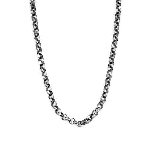 Mens Heavy Sterling Silver Necklace, Chain Necklace for Him