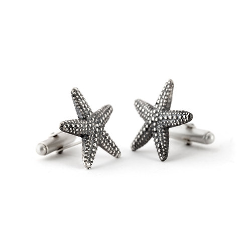 Starfish Cuff Links in Sterling Silver