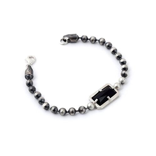 Silver 925 & Black Onyx Men Bracelet