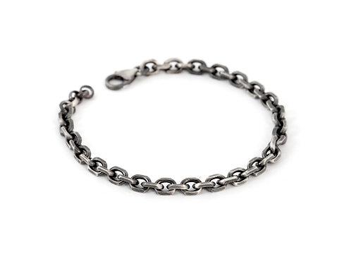 Mens Sterling Silver Chain Bracelet, 925 Link Bracelet